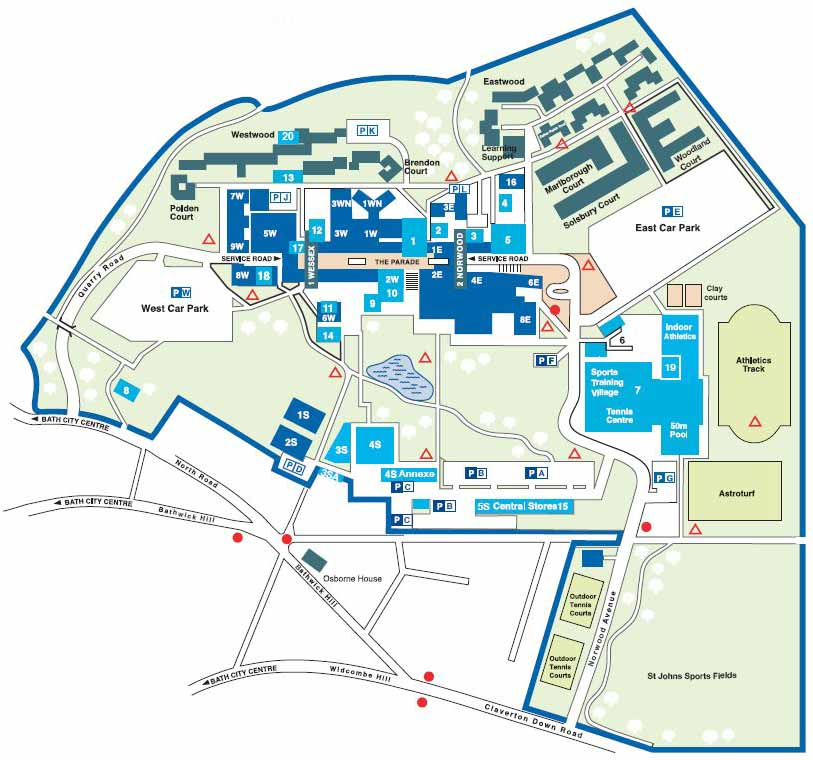 Bath University - Campus Map